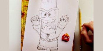 طراحی شخصیت کارتونی anger