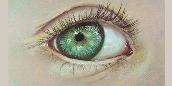 آموزش طراحی چشم با پاستل