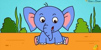 آموزش نقاشی فیل به کودکان