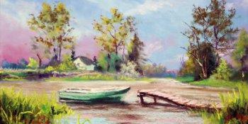 نقاشی منظره با پاستل