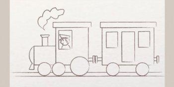 نقاشی قطار برای کودکان