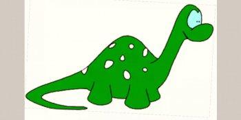 نقاشی دایناسور برای کودکان
