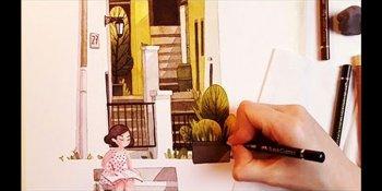 تصویرسازی با آبرنگ