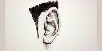 آموزش طراحی گوش با مداد