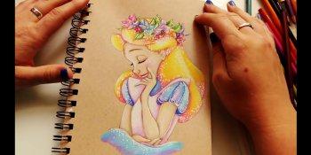 رنگ آمیزی شخصیت کارتونی آلیس