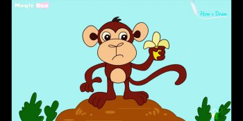 آموزش نقاشی میمون