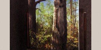 نقاشی نمای نزدیک درخت