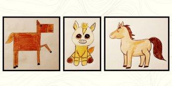نقاشی اسب برای کودکان