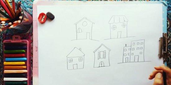 آموزش نقاشی خانه به کودکان