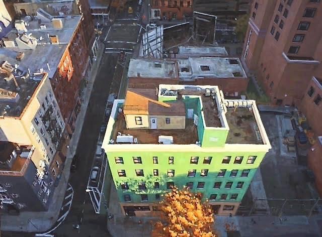 مراحل آسان برای نقاشی یک منظره شهری با رنگ روغن