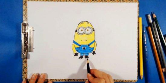 آموزش نقاشی مینیون