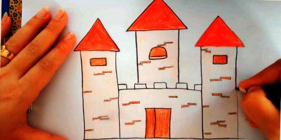 نقاشی قلعه کودکانه