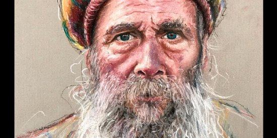 آموزش نقاشی پرتره مرد ریش دار با پاستل