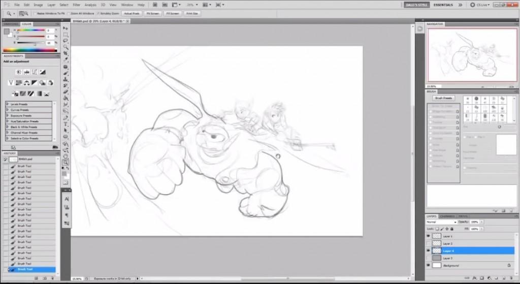 نقاشی دیجیتال big hero 6