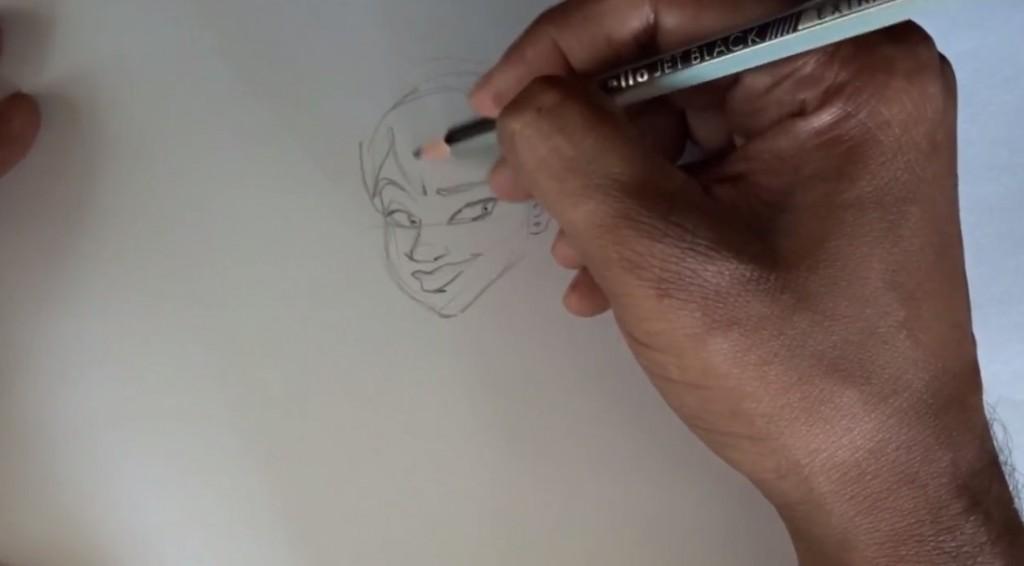 طراحی کاراکتر دختر با مداد