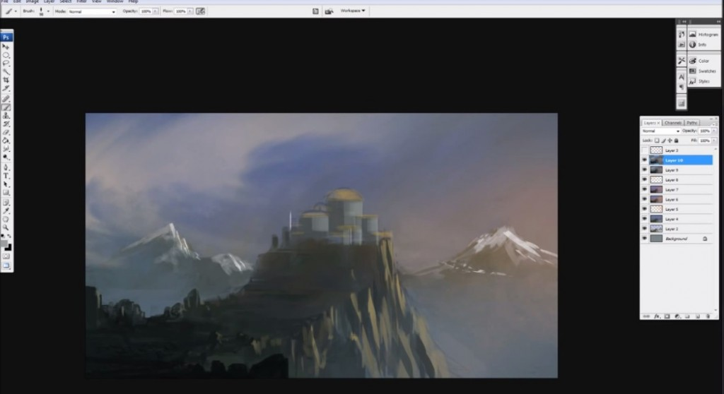 نقاشی دیجیتال قصر