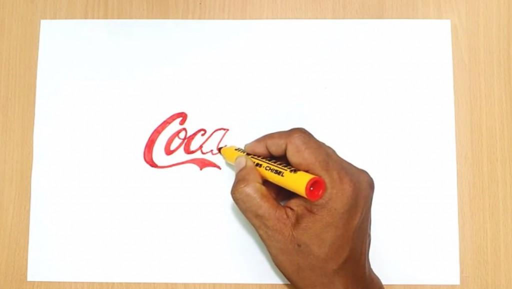 آموزش طراحی لوگو کوکاکولا