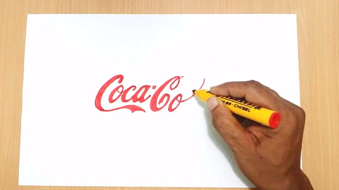 گرافیک آزاد ، آموزش نقاشی و هنر طراحیآموزش طراحی لوگو کوکاکولا