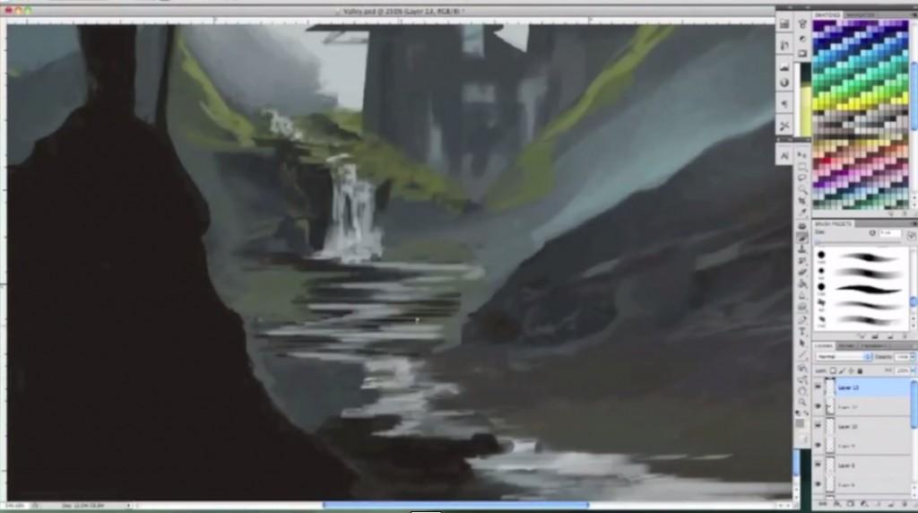طراحی دیجیتال دره معبد