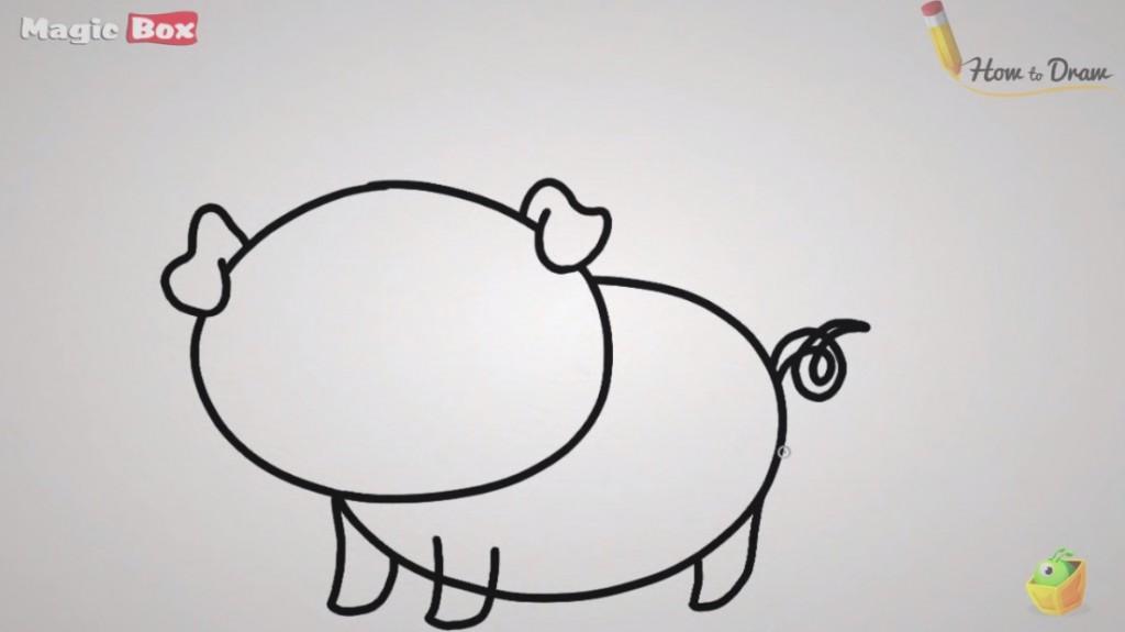 آموزش نقاشی خوک