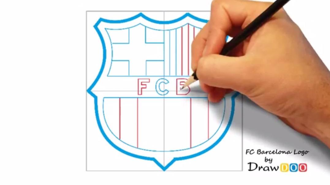 گرافیک آزاد ، آموزش نقاشی و هنر طراحی... طراحی لوگوی تیم بارسلونا
