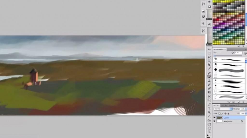 نقاشی دیجیتال حمله اژدها