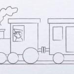 نقاشی قطار برای بچه ها