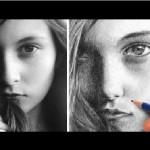 آموزش طراحی چهره زیبا با مداد