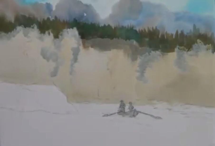 نقاشی ماهیگیر