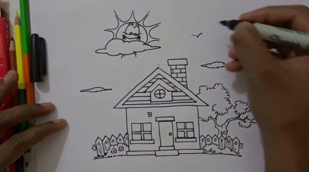 آموزش نقاشی خانه برای کودکان