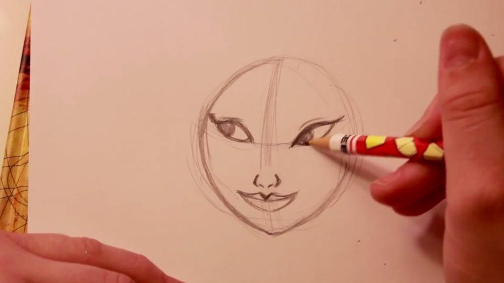 آموزش نقاشی شخصیت مولان