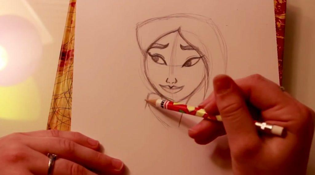 آموزش طراحی شخصیت کارتونی mulan