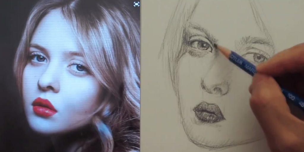 طراحی چهره دختر