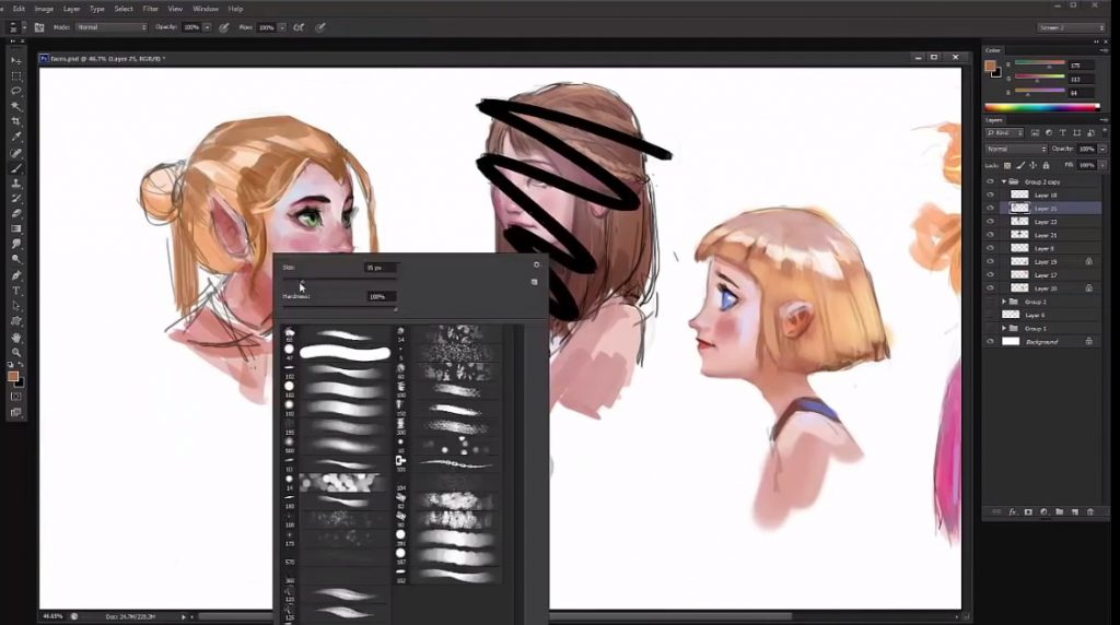 آموزش طراحی دیجیتالی چهره