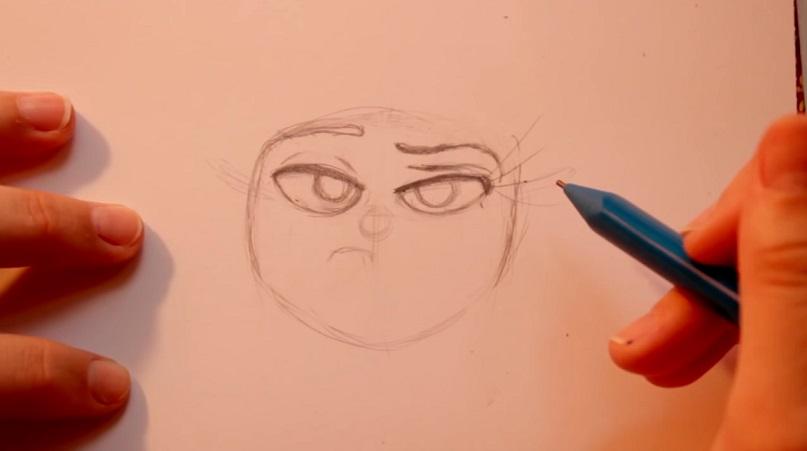 آموزش طراحی شخصیت نفرت در انیمیشن Inside Out