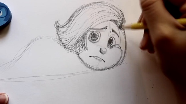 آموزش طراحی کاراکتر sadness