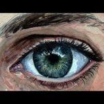 آموزش نقاشی چشم با آبرنگ