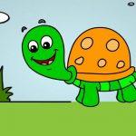 آموزش نقاشی لاک پشت برای کودکان